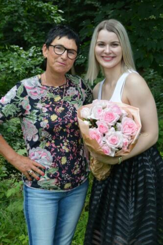 Rosa og Emilie efter dåben