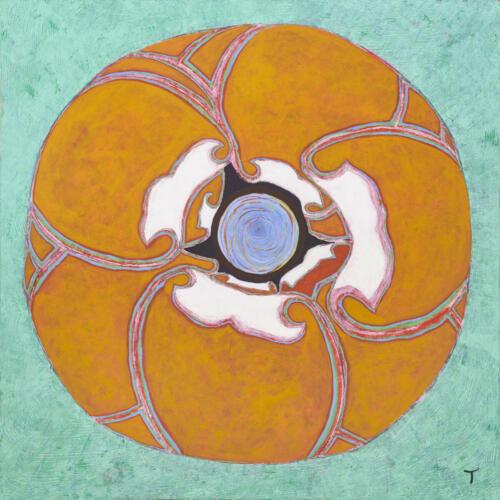 Torben Thim - Rosa, Acryl på lærred, 200x200 cm, Pressefoto